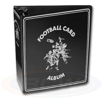 "BCW 3"" Black Football Card Collectors Album"