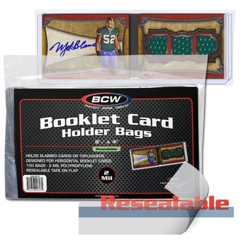 BCW Resealable Booklet Card Holder Bags (Horizontal) (100 Ct.)