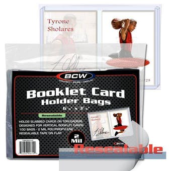 BCW Resealable Booklet Card Holder Bags (Vertical) (100 Ct.)