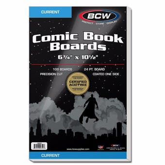 BCW Current Age Comic Book Backing Boards 100ct