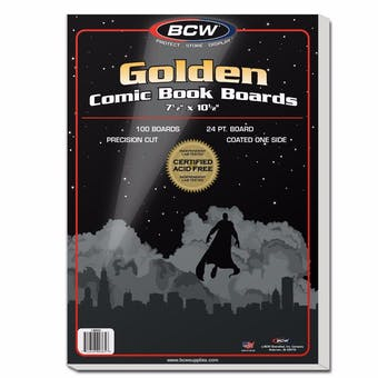 BCW Golden Age Comic Book Backing Boards 100ct.