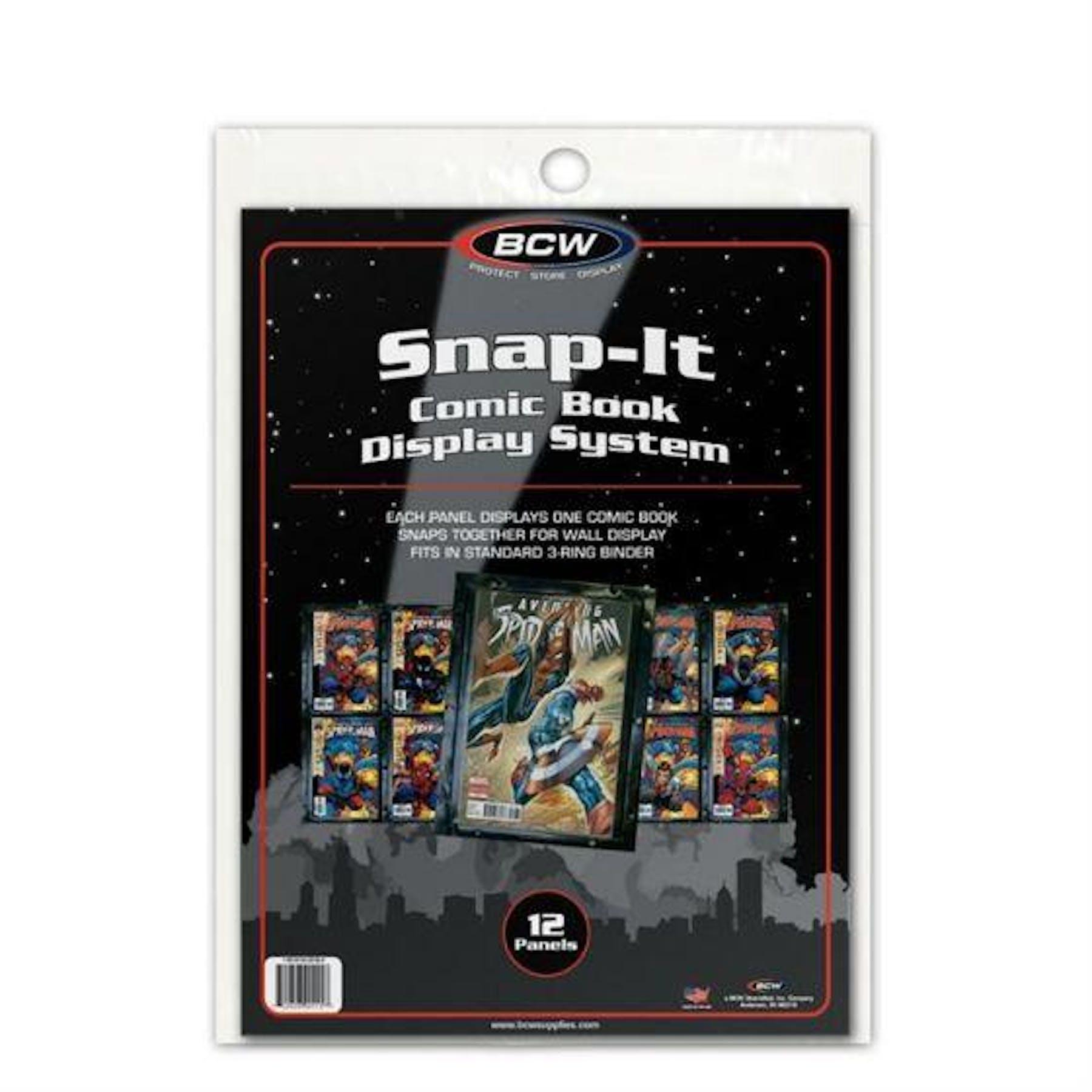 Bcw Comic Book Snap It Black