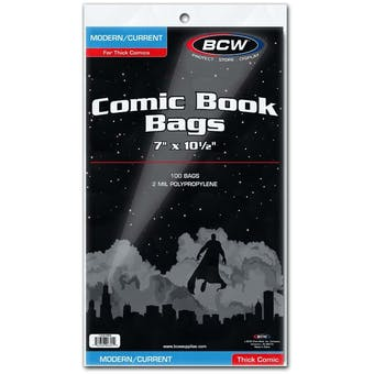 BCW Current Age Comic Book Bags - THICK BOOKS 100 ct.
