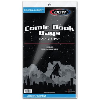 BCW Current Age Comic Book Bags 100ct