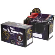 CLOSEOUT - BCW ELITE GLOSSY BLACK DECK PROTECTORS BOX - 6 PACKS OF 80 SLEEVES !!!
