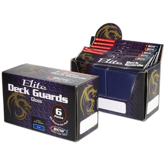 CLOSEOUT - BCW ELITE GLOSSY BLUE DECK PROTECTORS BOX - LOT OF 3 !!!