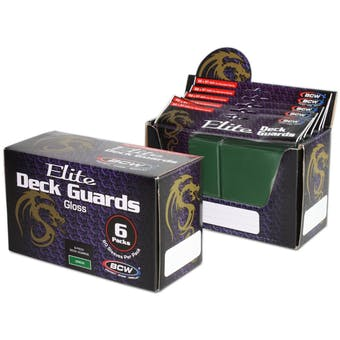 CLOSEOUT - BCW ELITE GLOSSY GREEN DECK PROTECTORS BOX - 480 SLEEVES !!!