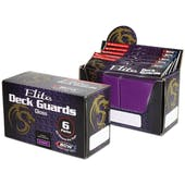 CLOSEOUT - BCW ELITE GLOSSY MULBERRY DECK PROTECTORS BOX - 6 PACKS OF 80 SLEEVES !!!