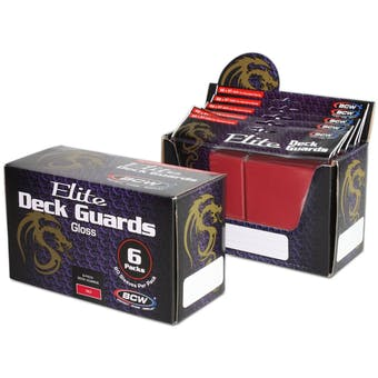 CLOSEOUT - BCW ELITE GLOSSY RED DECK PROTECTORS BOX - LOT OF 3 !!!