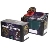 CLOSEOUT - BCW ELITE GLOSSY TEAL DECK PROTECTORS BOX - 6 PACKS OF 80 SLEEVES !!!