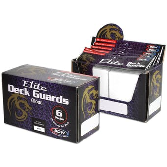 CLOSEOUT - BCW ELITE GLOSSY WHITE DECK PROTECTORS BOX - LOT OF 3 !!!