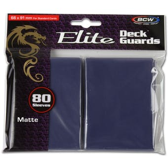 CLOSEOUT - BCW ELITE MATTE BLUE 80 COUNT DECK PROTECTORS !!!