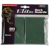 BCW Deck Guard - Elite Matte Green (80 ct)