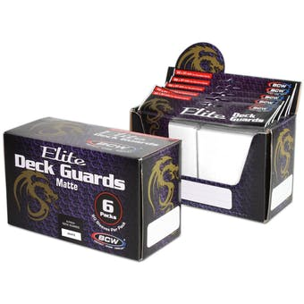 CLOSEOUT - BCW ELITE MATTE WHITE DECK PROTECTORS BOX - 480 SLEEVES !!!