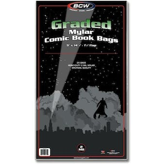 BCW Graded Mylar Comic Book Bag - 2 Mil (25 Ct.)