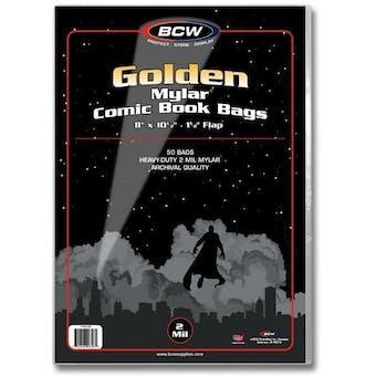 BCW Golden Age Comic Book Mylar 2 Mil Bag (50 Ct.)