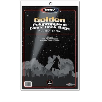 BCW Golden Age Comic Book Bags 100 ct