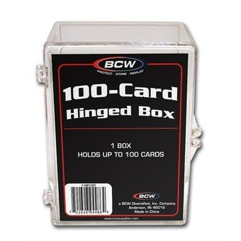 BCW Hinged Trading Card Box (100 Count)