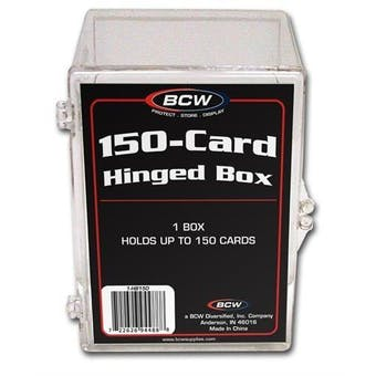 BCW Hinged Trading Card Box (150 Count)