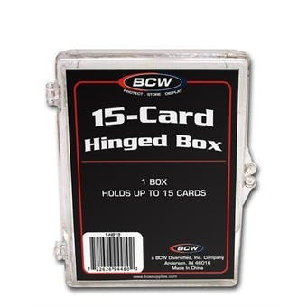 BCW Hinged Trading Card Box (15 Count)