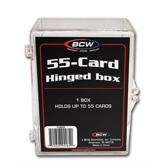BCW Hinged Trading Card Box (55 Count)