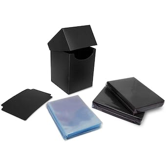 BCW Combo Pack - Inner Sleeves and Elite2 Deck Protectors - Black