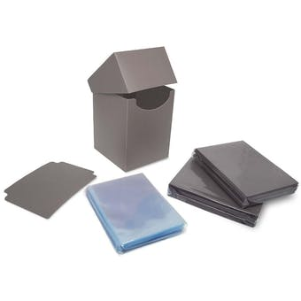 BCW Combo Pack - Inner Sleeves and Elite2 Deck Protectors - Cool Gray