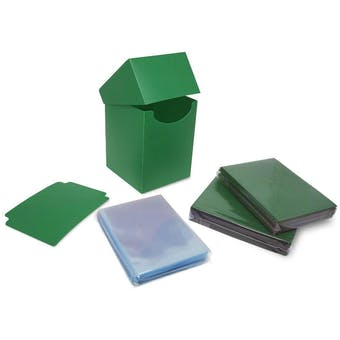 BCW Combo Pack - Inner Sleeves and Elite2 Deck Protectors - Green