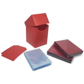 BCW Combo Pack - Inner Sleeves and Elite2 Deck Protectors - Red