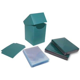 BCW Combo Pack - Inner Sleeves and Elite2 Deck Protectors - Teal