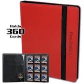BCW Pro-Folio 9-Pocket LX Album - Red