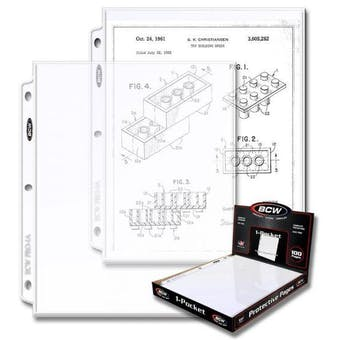 BCW Pro 1-Pocket Document Page (100 CT. Box)