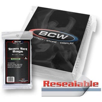 BCW Resealable Team Set Bags (100 Ct.)