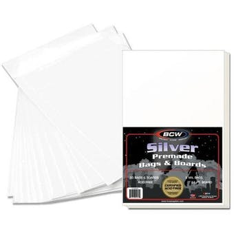 BCW Premade Silver Comic Bag and Board