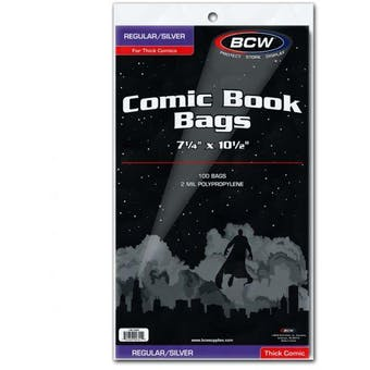 BCW Silver/Regular Comic Bags - Thick (100 Ct.)