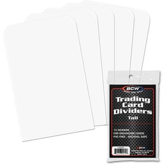 BCW Tall Trading Card Dividers (10 Ct.)