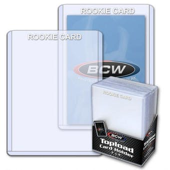 BCW 3x4 Topload Card Holder - Rookie Imprinted - White
