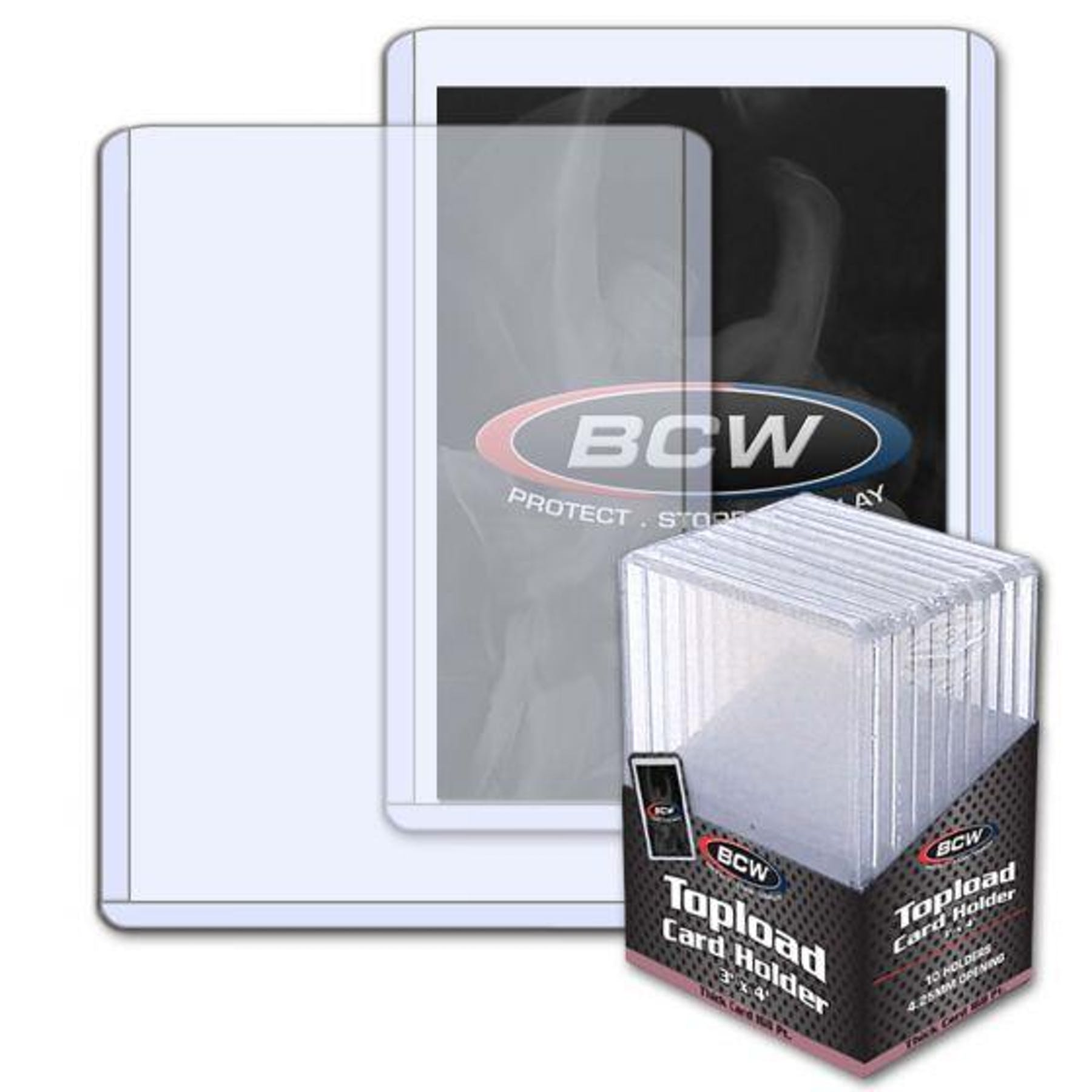 BCW 3x4 Thick 168pt. Toploader 10-Count Pack