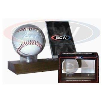 BCW Woodbase Baseball and Card Holder