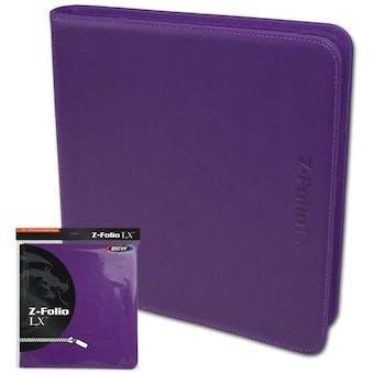 BCW Z-Folio 12-Pocket LX Album - Purple