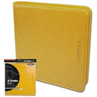 BCW Z-Folio 12-Pocket LX Album - Yellow