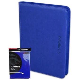 BCW Z-Folio 9-Pocket LX Album - Blue