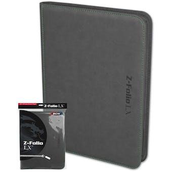 BCW Z-Folio 9-Pocket LX Album - Gray