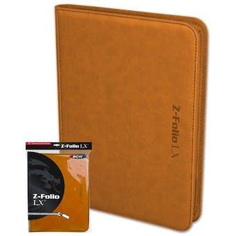 BCW Z-Folio 9-Pocket LX Album - Orange