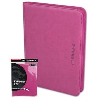 BCW Z-Folio 9-Pocket LX Album - Pink