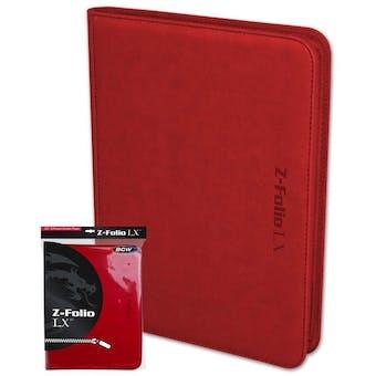 BCW Z-Folio 9-Pocket LX Album - Red