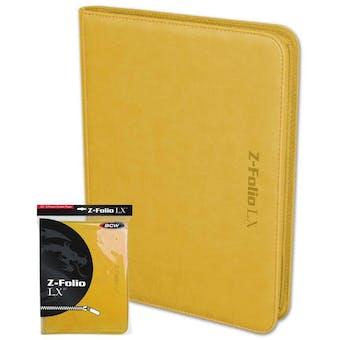 BCW Z-Folio 9-Pocket LX Album - Yellow