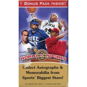 2010 Upper Deck World of Sports 11-Pack Box - JORDAN!!!