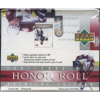2001/02 Upper Deck Honor Roll Hockey 24-Pack Box