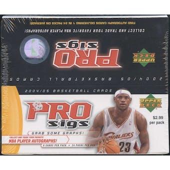 2004/05 Upper Deck Pro Sigs Basketball 24-Pack Box